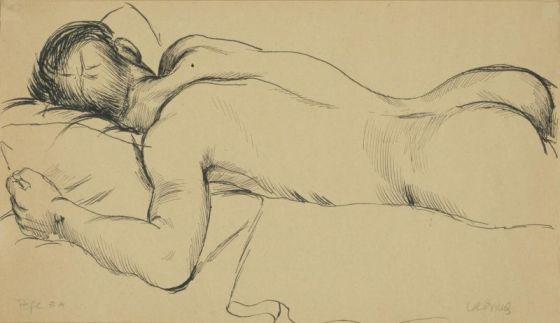 Pepe #A (1933), dibujo del pintor estadounidense Paul Cadmus (1904-1999)